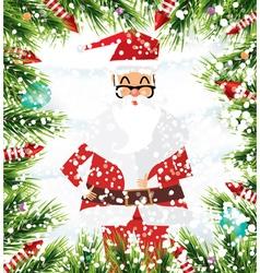 Santa Claus Christmas background vector image vector image