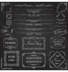 Vintage Calligraphic Design Elements2 vector image vector image