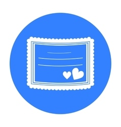 Wedding card icon of for web vector image vector image