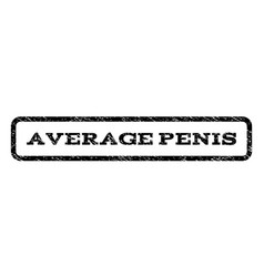 average penis watermark stamp vector image vector image