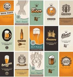 Beer card vector