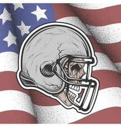 Skull in a helmet to play football vector image vector image