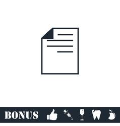 Document icon flat vector image