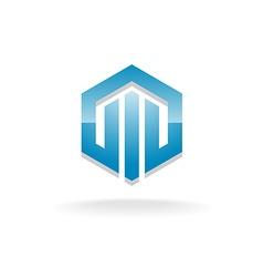 Hex industrial logo vector image