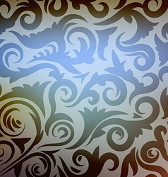 abstract floral wallpaper vector image