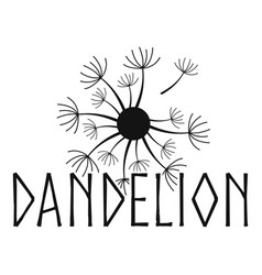Blooming dandelion logo icon simple style vector