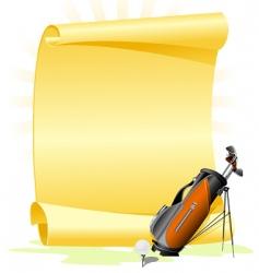 golf invitation vector image vector image