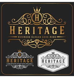 Luxurious royal logo re-sizable design vector