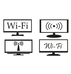 Set of screens on a white background vector image vector image