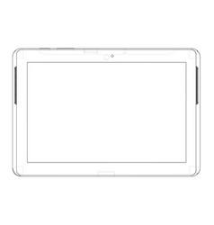 sketch of tablet pc vector image vector image