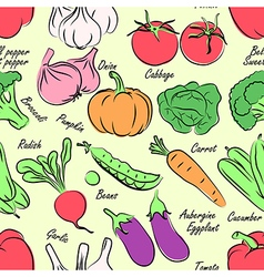 vegetables seamless vector image vector image