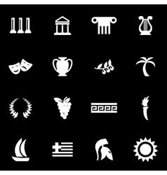 white greece icon set vector image vector image