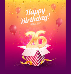 26 th years anniversary design element vector image