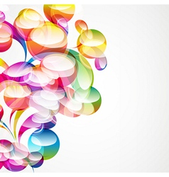 Abstract arc-drop background vector image
