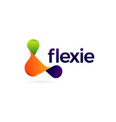 Abstract colorful flexible logo symbol icon vector