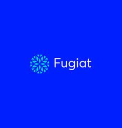 abstract elegant flower crystal brilliant logo vector image