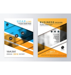 Annual Report Brochure vector image vector image