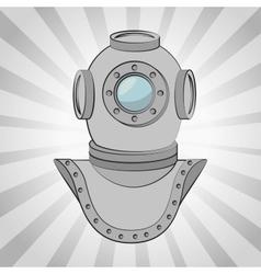 Aqualung antique diving icon vector