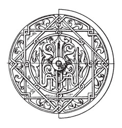 arabian circular panel is a 16th century vector image
