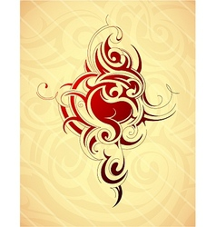 Artistic tattoo shape vector