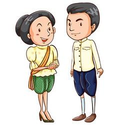 Asian couple vector