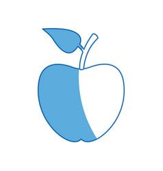 Back to school apple symbol icon vector
