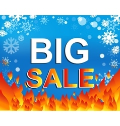 Big winter sale poster with BIG SALE text vector