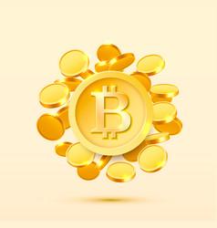 bitcoin cash golden coin vector image