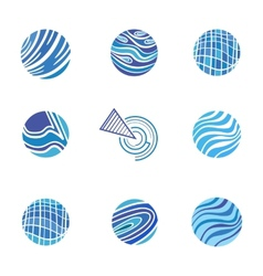 Blue Abstract Logos vector image