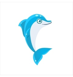 Blue Dolphin Icon vector