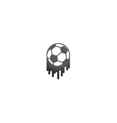 brush football symbol vector image
