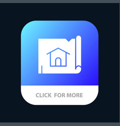building construction map house mobile app button vector image