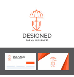 business logo template for insurance protection vector image