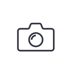 camera icon in trendy flat style isolated on vector image