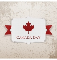 Canada Day patriotic Badge with Ribbon vector
