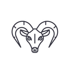 capricorn line icon sign on vector image