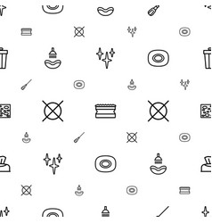 Clean icons pattern seamless white background vector