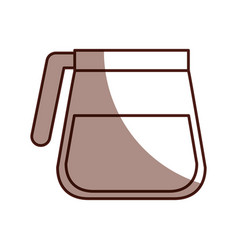 coffee teapot isolated icon vector image