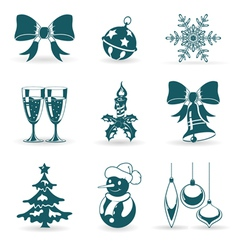 collect christmas icons vector image