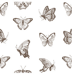 collection of hand drawn brown silhouette vector image