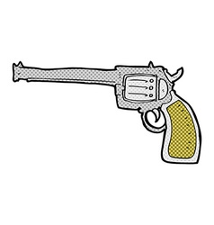 Comic cartoon gun vector