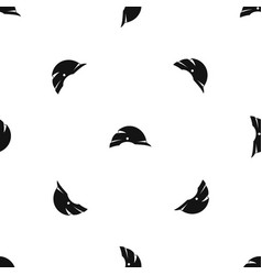construction helmet pattern seamless black vector image