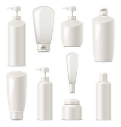 cosmetic packaging icons set 7 vector image