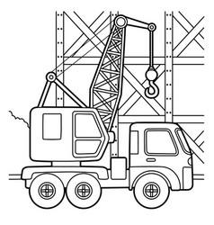 Crane coloring page vector