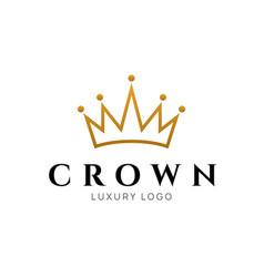 Crown logo king royal icon queen logotype vector
