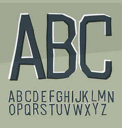 Cut off alphabet cartoon style elementary hand vector