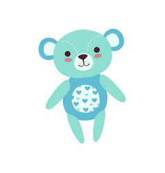 cute light blue teddy bear soft plush toy stuffed vector image