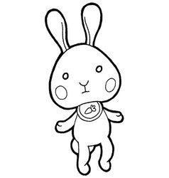 Cute rabbits vector