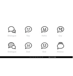 dialogue chat icon with emotions bubble speech vector image