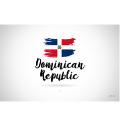 dominican republic country flag concept with vector image